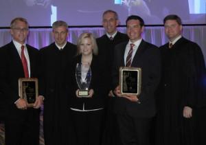 (L-R): Paul Crochet, Honorable T. Kent Wetherell II, Kayla Cash, Honorable Scott D. Makar, Tyler Egbert and the Honorable Timothy Osterhaus.