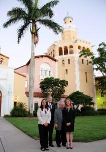 (L-R): student Jennifer Quijano, Professor Peter Edelman, Professor Robert Bickel, and student Andona Zacks-Jordan. Photo by Kayla Minton (2L).