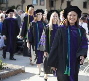 Stetson Law graduates walk at a recent commencement.