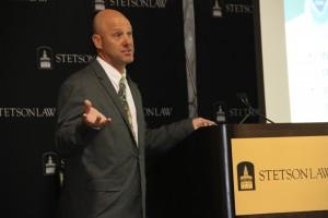 Dr. John Carlson spoke at Stetson.