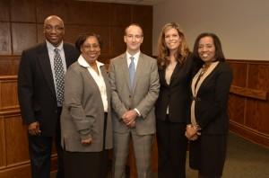 (L-R): Professor Darryl Wilson, Professor Dorothea Beane, Todd Grandy, Josie Thomas and Yvette Rhodes.