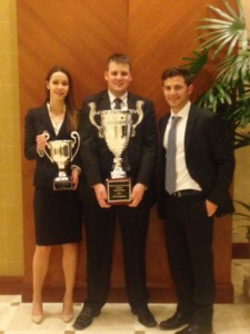 L-R: Melaina Tryon (Best Oralist), Nick Sellars, and Giovanni Giarratana.