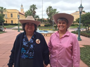 (L-R): Adjunct professors and law librarians Sally Waters and Wanita Scroggs.