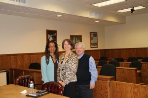 (L-R): Professor Judith Scully, Judge Michelle T. Morley and Professor Robert Bickel.