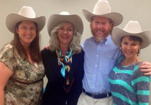 (L-R): Professors Catherine Cameron, Carol Henderson, Lance Long and Luz Nagle. Photo by Professor Jason Palmer.