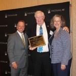 (L-R): Law Dean Christopher Pietruszkiewicz, Bernie McCabe and Stetson University President Wendy Libby.