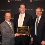 (L-R): Law Dean Christopher Pietruszkiewicz, Jason Stearns and Associate Dean Michael Allen.