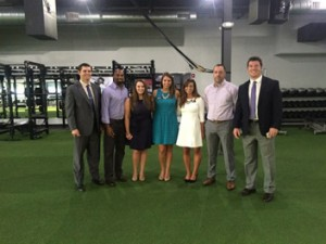 Pictured (L to R): David Lisko (SBLA President), Yo Murphy (Performance Compound), Samantha Grizzle (Stetson EASL Event Coordinator), Marissa Marchena (Stetson EASL Treasurer), Alexandra Murdocca (Stetson EASL President), Mike Dillon (Reynolds Sports Management), and Justin Moore (SBLA CEO).