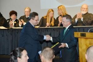 (L-R): Judge McCoy with Stetson Law Dean Christopher Pietruszkiewicz.