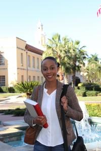 Student Darnesha Carter.
