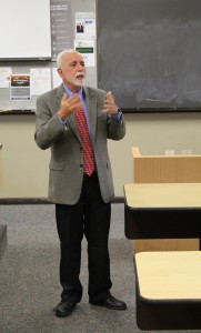 Michael Perlin spoke at Stetson law school on March 23. Photo by Marissa Marchena.