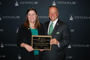 (L-R): Judge Catherine McEwen with Dean Christopher Pietruszkiewicz.