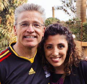 International Justice Mission founder with Jessica Falkner.