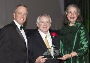 (L-R): Dean Christopher Pietruszkiewicz, Professor Robert Bickel, President Wendy Libby.