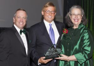 (L-R): Dean Christopher Pietruszkiewicz, Matt Towery, President Wendy Libby.