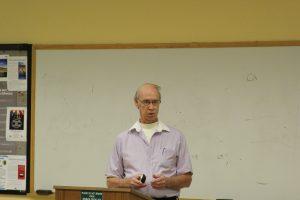 Keith Long spoke at Stetson on Nov. 3. Photo by Alan Brock.
