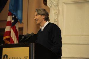 John Prendergast spoke at Stetson on genocide.