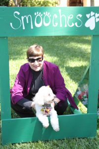 Professor Ellen Podgor brought therapy dog Hans