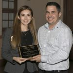(L-R): Natalia C. Reyna-Pimiento with alumnus Javier Ojeda Chenard.