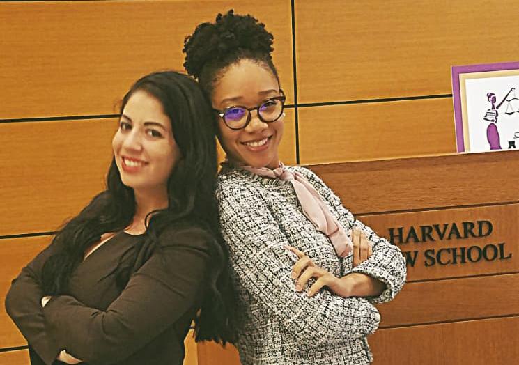 (L-R): Taylor Greenberg and Ashleigh Thornton attended the Ms. J.D. Leadership Academy Class at Harvard. Photo courtesy Ashleigh Thornton.
