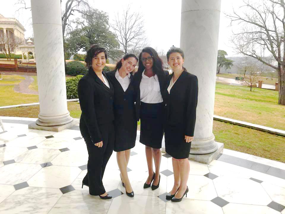 Finalists (L-R): Jahanna, Vanessa, Keongela, Jade. Photo courtesy Professor Kristen Adams.