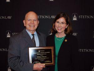 Professor Emeritus Bill Eleazer with Interim Dean Kristen Adams.