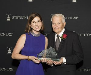 (L-R): Interim Dean Kristen Adams with Professor Emeritus Michael Swygert.