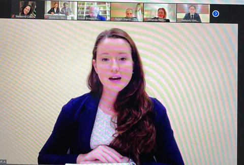 Audrey Gangloff presenting.