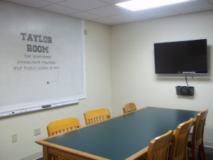 Taylor Study Room with Large Monitor and Whiteboard