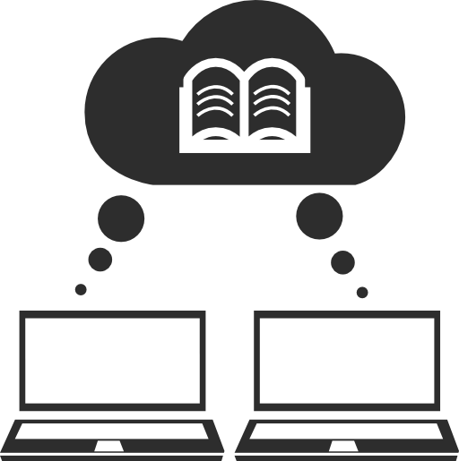 Two Laptops Accessing Books Online