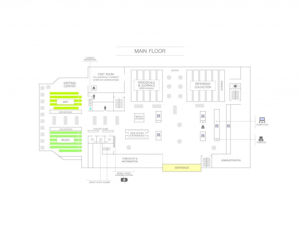 Map of Main Floor