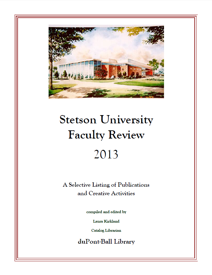 Faculty Review Cover 2013