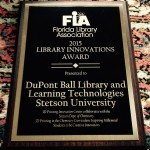 Florida Library Association Library Innovation Award Winner