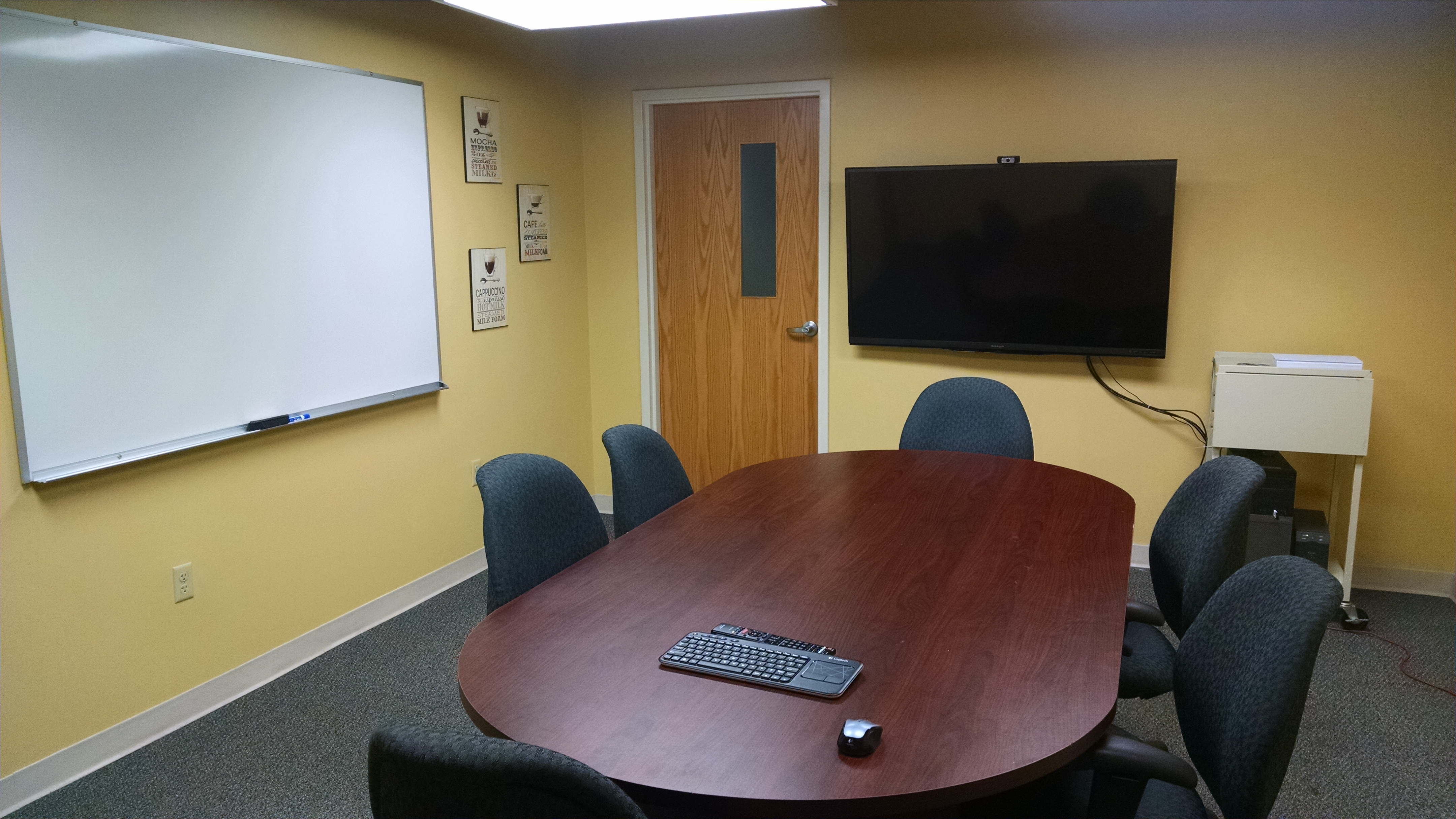 Room 26L with Large Monitor and Whiteboard