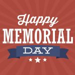 Library Memorial Day Hours are 5 PM to 10 PM