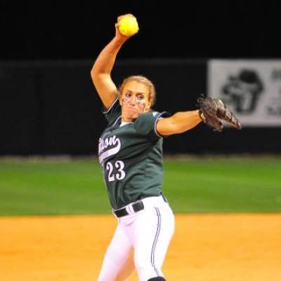 Meredith Owen 20th win of Softball season
