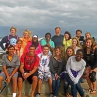 Sitler class at beach