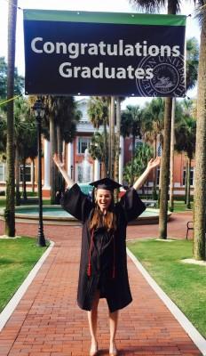 Jennifer Cherry, first HATS graduate to graduate from Stetson University