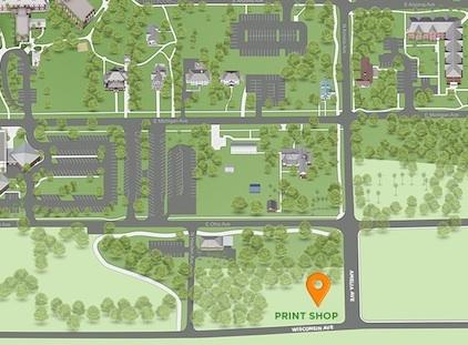 print shop map location