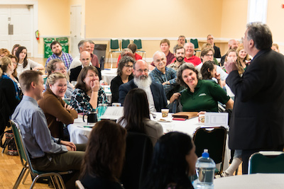 Harvard's Robert Kegan conducts Stetson's Faculty Community Day 2016.