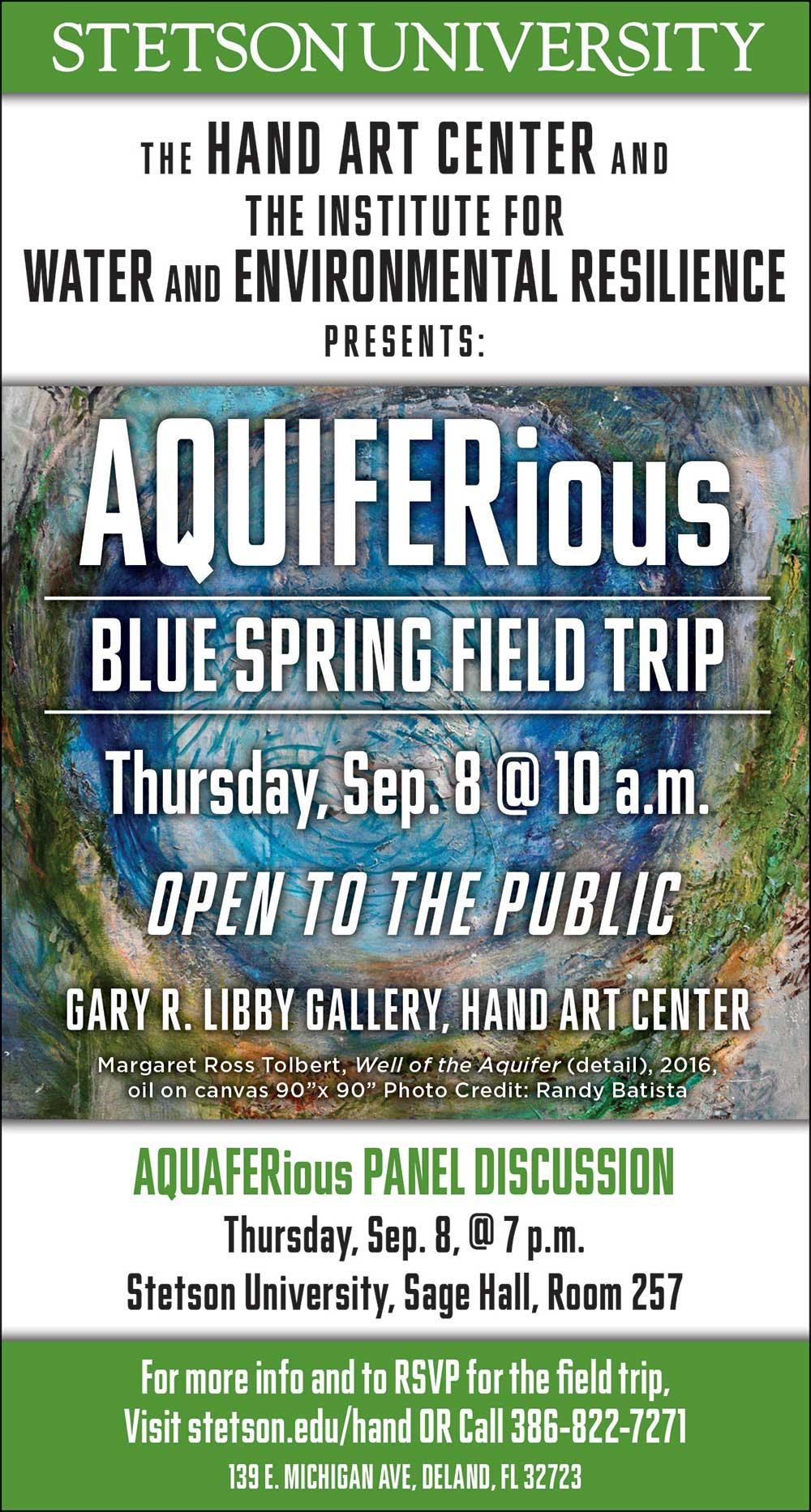 AQUIFERious field trip poster