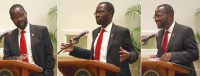 Sen. Peter Anyang' Nyong'o, Ph.D., senator from Kenya, speaks at Stetson University Sept. 20, 2016