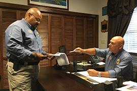 Public Safety Chief Bob Matusick and Lt. Ray Almodovar