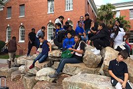 Students from Starke Elementary School