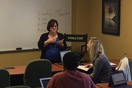 Stetson professor Joyce Mundy teaches a class