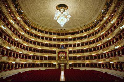 Inside of La Scala in Milan, Italy