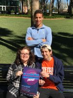 Group shot of three winners of Campus MovieFest