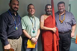 Three Wise Guys and Hindu spiritual leader