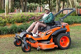 Jimmy Franklin on mower