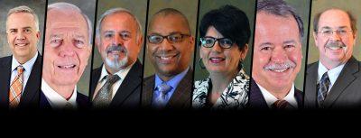 seven returning board of trustee members